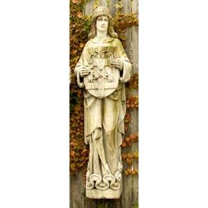 Belfast Figure Fiberglass Statue - White Moss Finish