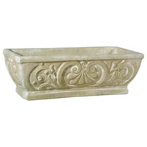 Weather Fleur de Lis Outdoor Pot