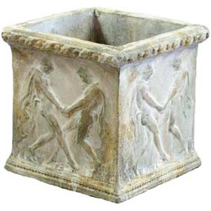 Pompeii Grape Crushers Square Outdoor Pot