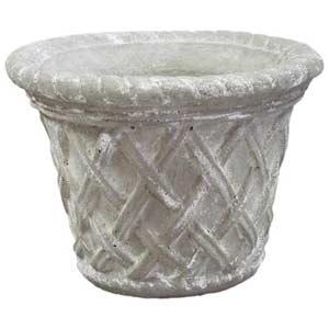 Weather Small Exterior Lattice Pot