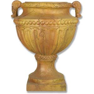 Antique Gold Fluted and Beaded Urn