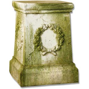 Wreath 18-Inch Fiberglass Pedestal - White Moss Finish