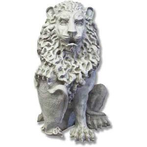 Antique Stone Richelieu Lion Right