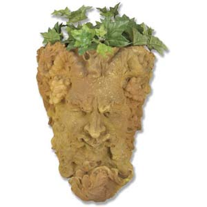 Sandstone Man of Season Mask Planter