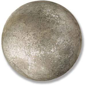 Soot 8-Inch Garden Finial Sphere