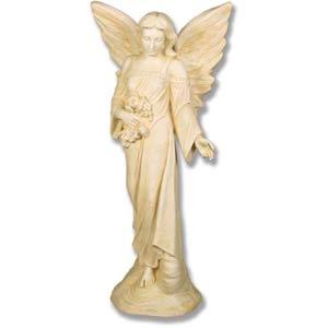 Antique White Angel Flora Statue