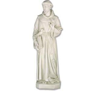 Antique Stone St Francis Statue