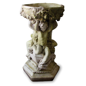 White Moss Capri Cherubs Bowl