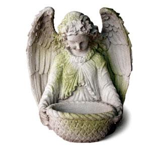 White Moss Garden Angel