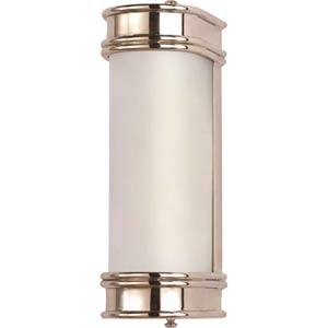 Polished Nickel Short Linear Bath Sconce