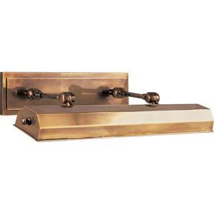 Antique Brass Dorchester 24-Inch Plug-In Picture Light