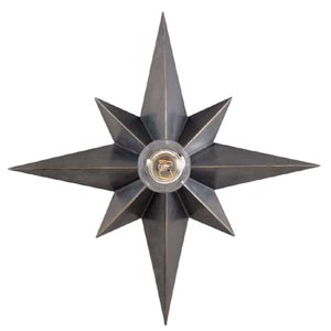 Bronze Star Flush Mount Ceiling Light