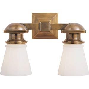 Antique Brass New York Subway Double Light