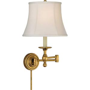 Antique Brass Classic Swing Arm Sconce