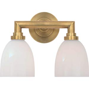 Antique Brass Wilton Double Bath Light