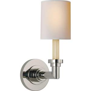 Polished Nickel Wilton Single Sconce