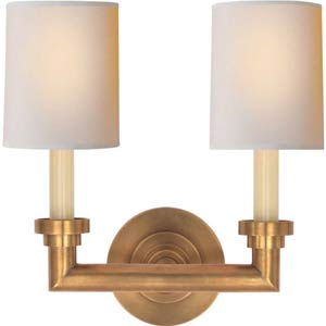 Antique Brass Wilton Double Sconce