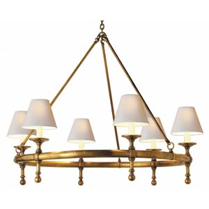 Antique Brass Classic Ring Chandelier
