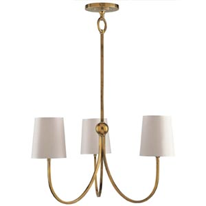 Antique Brass Reed Small Chandelier
