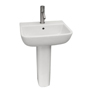 Series White 600 Pedestal Sink 1-Hole