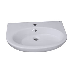 Infinity White 600 Pedestal Sink 1-Hole