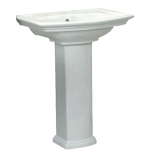 Washington White 550 Pedestal Sink 8-Inch Widespread