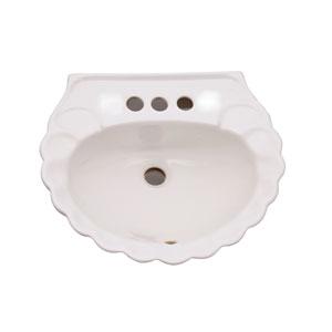 Bali White Pedestal Sink 4-Inch Centerset