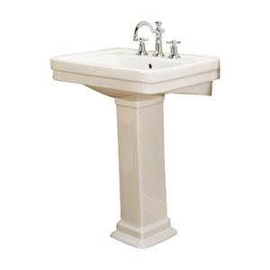 Sussex Bisque 660 Pedestal Sink 8-Inch Widespread