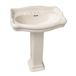Stanford Bisque 550 Pedestal Sink 4-Inch Centerset