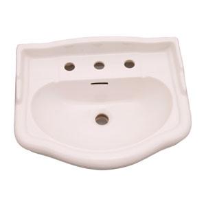 Stanford Bisque 550 Pedestal Sink 8-Inch Widespread