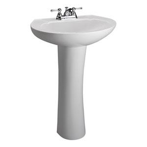 Hampshire White 4-Inch Spread Pedestal Sink
