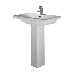 Mistral White One-Hole Pedestal Sink