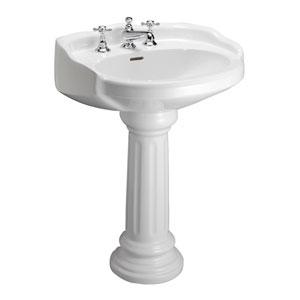 Victoria White 8-Inch Spread Pedestal Sink