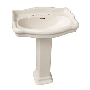 Stanford Bisque 8 Inch Spread Pedestal Sink
