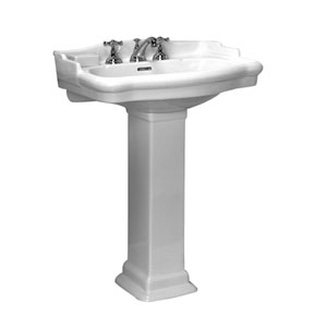 Stanford White 8-Inch Spread Pedestal Sink
