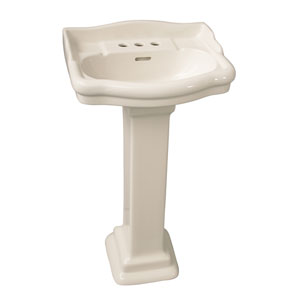 Stanford Bisque 4-Inch Spread Pedestal Sink