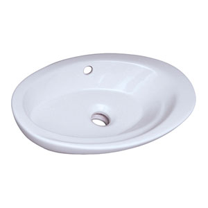 Infinity White Above Counter Basin 23-Inch