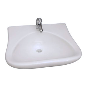 Bella White Wall-Hung Sink 1-Hole