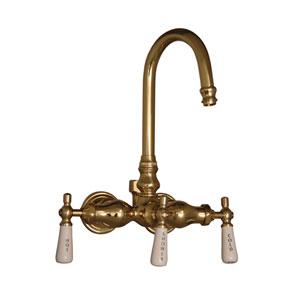 Polished Brass Leg Tub Diverter Faucet