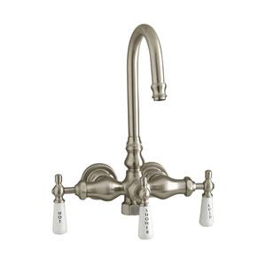 Brushed Nickel Leg Tub Diverter Faucet