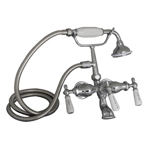 Polished Chrome Leg Tub Wall Mount Faucet
