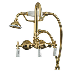 Clawfoot Tub Wall Mounted Faucet With Handshower