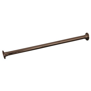 84-Inch Polished Nickel Straight Shower Rod