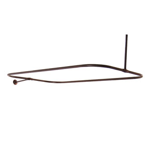 Oil Rubbed Bronze Rectangular Shower Rod 48 x 24-Inch