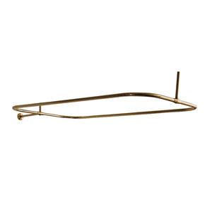 Polished Brass Rectangular Shower Rod 48 x 24-Inch