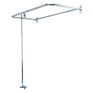 Large Rectangular D Clawfoot Tub Shower Unit