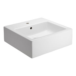 Patricia White One-Hole Square Vessel Sink