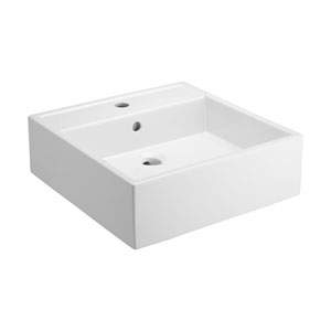 Nova White One-Hole Fireclay Vessel Sink