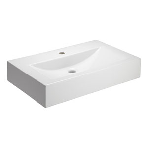 Sonja White One-Hole Fireclay Sink