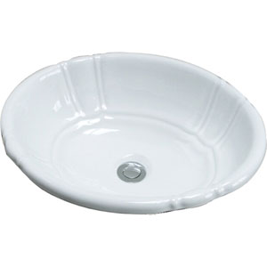 Lisbon White Drop-In Sink